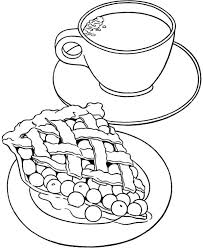 Small Picture Cherry Pie Food and Milk Coloring Pages Cherry Pie Food and Milk