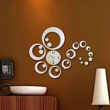 Small Picture Modern Design DIY Round Mirror Wall Clock price in Pakistan at