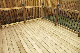 wood deck cost. Pressure Treated Deck Cost Wood And Posite Decking Pros Cons A