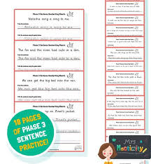 Free interactive exercises to practice online or download as pdf to print. Phase 3 Sentence Handwriting Sheets Colour Version