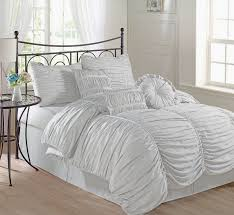 bedspreads comforter sets great chezmoi collection 7 piece chic ruched duvet cover set