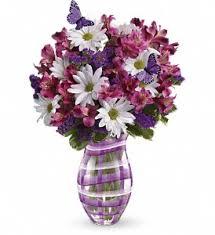 teleflora s lavender plaid bouquet