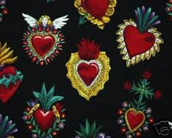 49 best Fabrics images on Pinterest | Business, Comforters and ... & Alexander Henry Corazones on Black Adamdwight.com