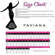 Faviana Size Chart
