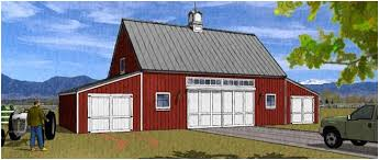 Barn Plans  Country Garage Plans and Workshop PlansPole Barn Carriage House Garage Plans   quot