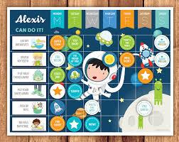Reward Chart Astronaut Reward Chart