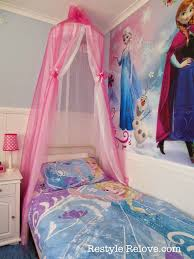 Princess Bedroom Decorations Restyle Relove A New Bed And Diy Bed Canopy For My Frozen