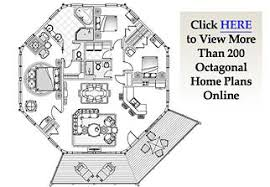 Octagon House Plans Home Vintage Blueprint Design Custom Building Hexagon House Plans