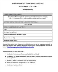 Application Examples Mesmerizing 48 Grant Applications Examples Templates Sample Templates