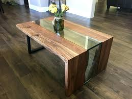 full size of glass waterfall table coffee and side set industrial water interior design glass table