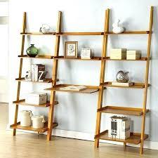 ladder shelf desk leaning bookcase with desk stunning leaning with regard to leaning shelf desk plan