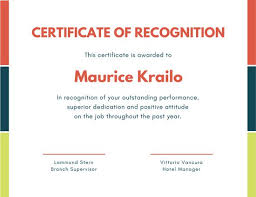 Customize 204 Recognition Certificate Templates Online Canva