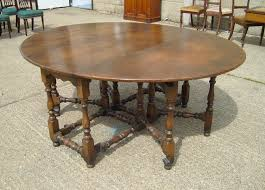 antique oak oval dining table. large antique oak oval table - 6ft 17th century charles ii revival gateleg dining a