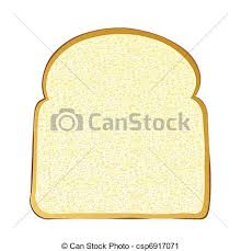 Slice Of White Bread Single Slice Of Wholemeal White Bread With Crust