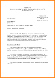 Unemployment Appeal Letter Template How Write Simple Vision