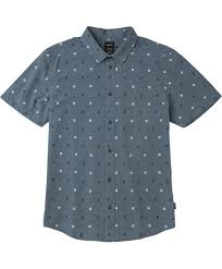 Patterned Button Up Shirts Mesmerizing And Sons Printed ButtonUp Shirt RVCA