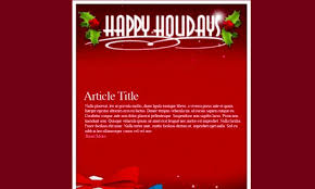 Free And Premium Christmas Html Email Newsletter Templates