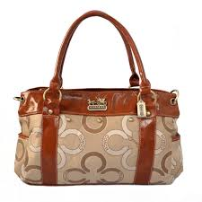 Coach Waverly Big C Logo Large Khaki Satchels 20863