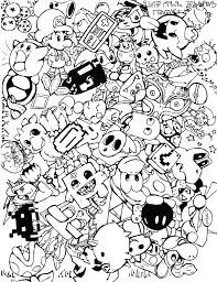 Video Game Character Coloring Pages Riodejaneiroorganicgrowerscom