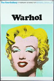 marilyn monroe andy warhol tate gallery exhibition poster
