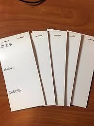 new 5 value pack blank professional pocket golf yardage book drawing book