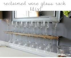 wine stem rack wall