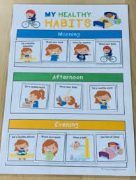 Chart On Healthy Habits Healthy Habits Achievement Chart Aligned With Australian Curriculum