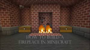 Fireplace  Fresh How To Make A Fireplace In Minecraft Pe Fireplace In Minecraft