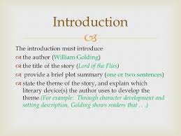 literary analysis this is a literary analysis essay which will  2 introduction