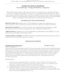 How To Create A Functional Resume Interesting Junior Civil Site Engineer Resume Sample For Mechanical Engineering