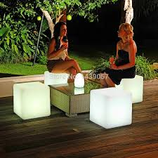 Glow Furniture Aliexpresscom Buy 303030cm Plastic Led Cube Bar Stool Color