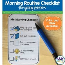 Adhd Morning Routine Chart Morning Routine Checklist For Young Learners