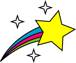 Small Picture Free clip art of a cute colorful shooting star Sweet Clip Art