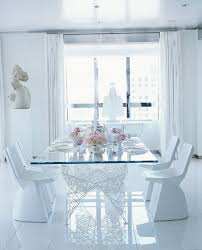 Apartment:Fresh And Small Apartment White Dining Room Table With Pattern  Red Rug Idea Beautiful