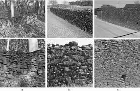 examples of schist masonries sections with diffe bedding mortar from left to right soil saibro sand with kaolin clay c e barroso et al