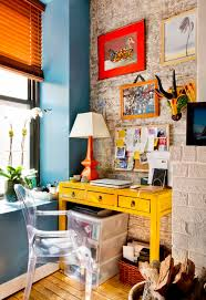 eclectic home office. My Houzz: Vibrant Palette In A West Village Apartment Eclectic-home-office Eclectic Home Office
