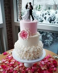 elegant pink wedding cake with ruffles picture of cake art