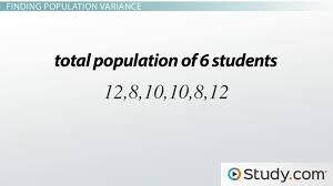 population sample variance definition formula examples