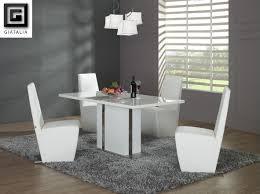 modern black white dining chairs set pedestal dining black white modern kitchen tables