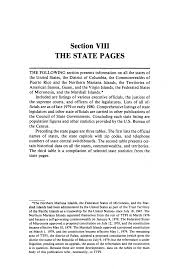 Section VIII THE STATE PAGES