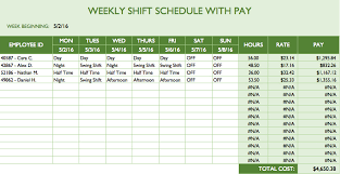shift work schedules free work schedule templates for word and excel