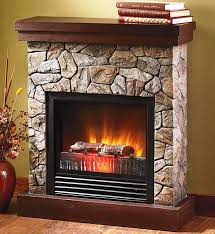 image of electric stone fireplace