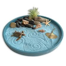 com mini zen garden sea life a day at the ocean desktop sandbox for meditation and relaxation toys