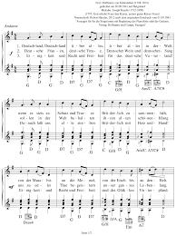 Das Lied der Deutschen (Deutsche Nationalhymne) - Noten - Text
