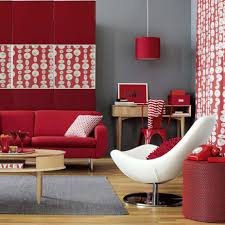 Red Living Room Red And Grey Curtains Great Home Design References Huca Home