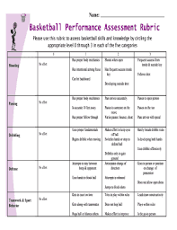 Get Basketball Skills Assessment Rubric Pdf Form Samples To Fill ...