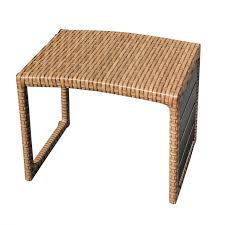 tkc laa outdoor wicker side table in caramel