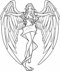 Small Picture Get This Printable Hard Coloring Pages of Angel for Grown Ups 87dc34