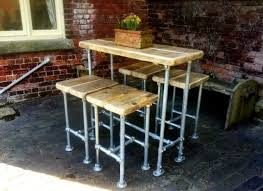 industrial style outdoor furniture. Industrial Style Scaffold Breakfast Bar With Four Stools -kitchen Outdoor Furniture