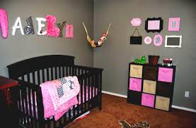 Baby NurseryStunning Baby Girl Room Design With Brown Rug Flooring And  Black Nursery Cribs